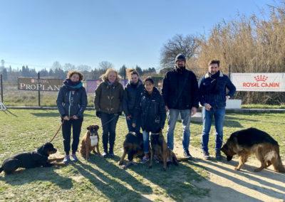 Stagiaires pour la formation d'éducateur canin